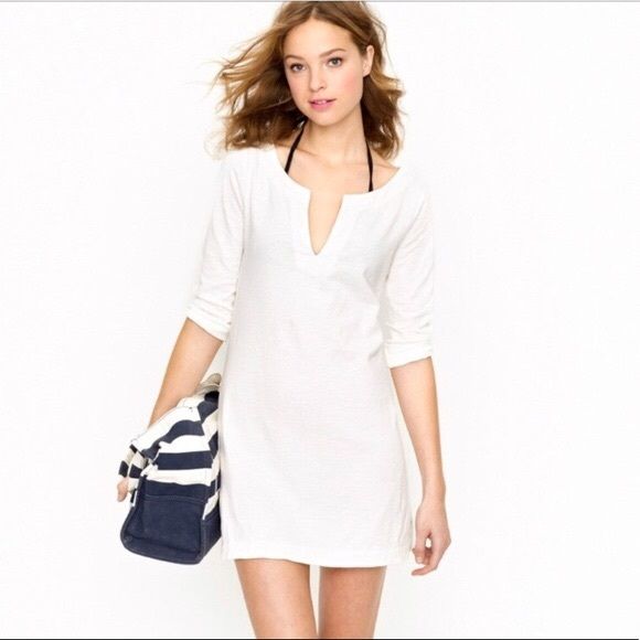 J. Crew Other - J. Crew white ivory tunic cover up dress